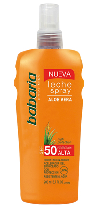 LECHE SPRAY SOLAR ALOE -SPF 50
